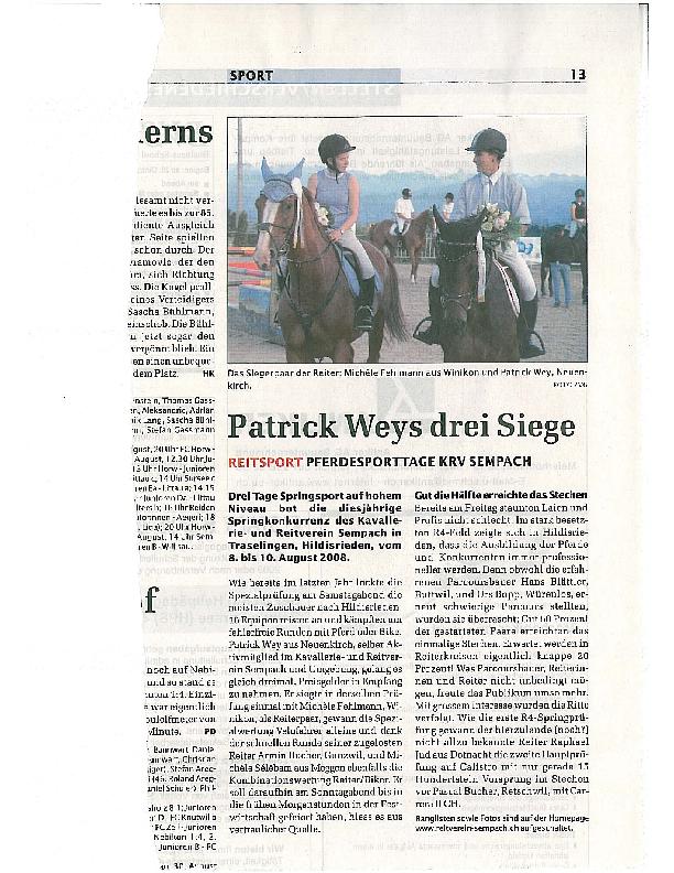 Sempacher Woche August 2008