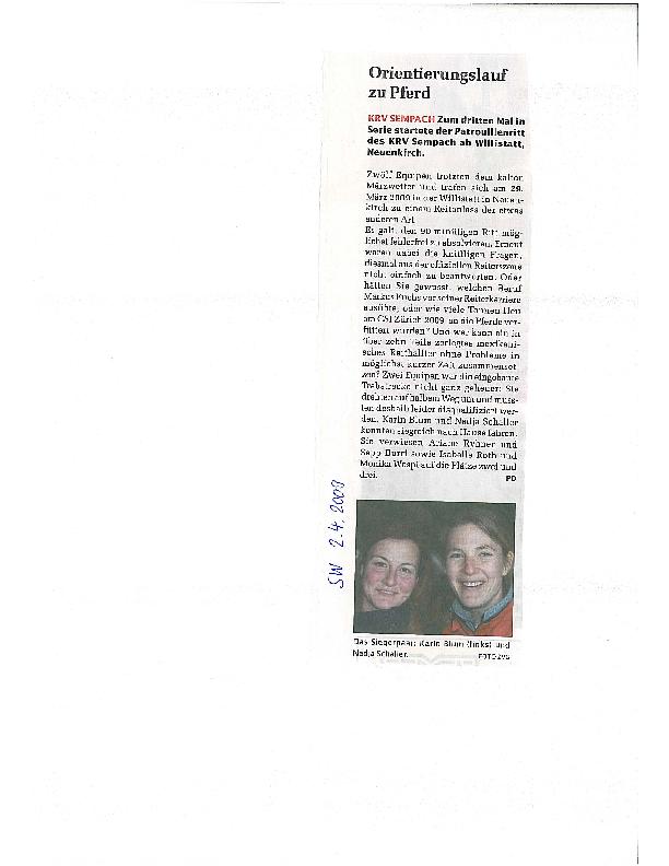 Sempacher Woche 2.04.2009