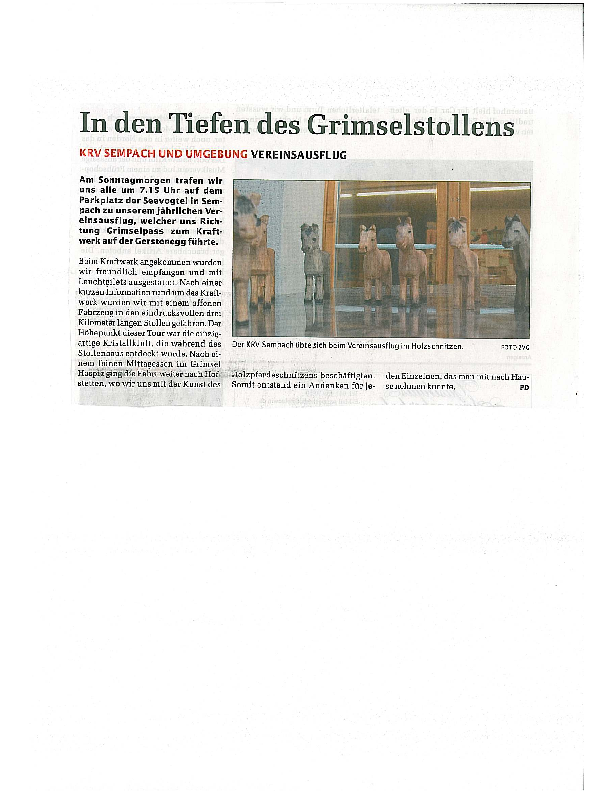 Sempacher Woche – Vereinsausflug 2009