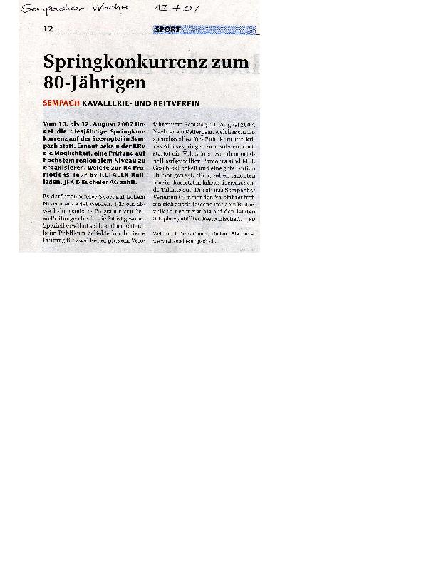 Sempacher Woche 12.7.2007
