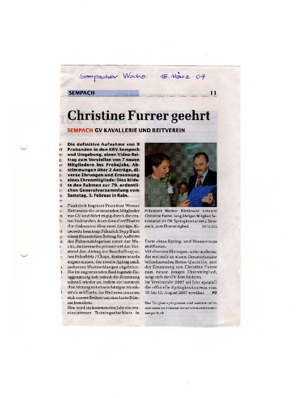 Sempacher Woche 15.03.2007