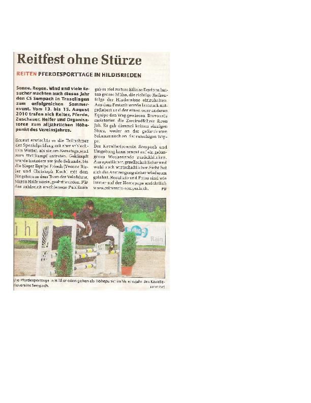Sempacher Woche 26.08.2010
