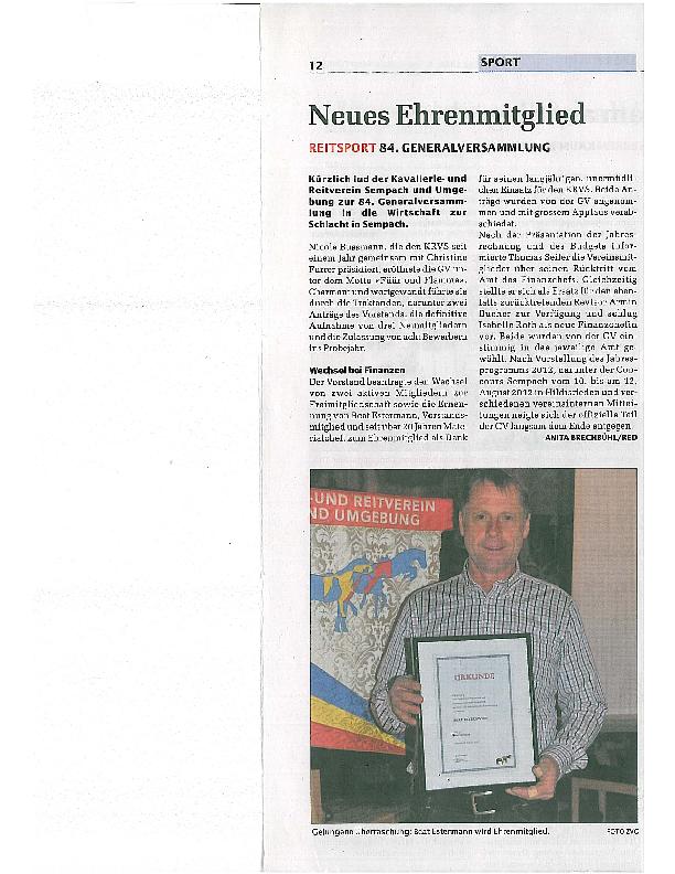 Sempacher Woche – GV 2012
