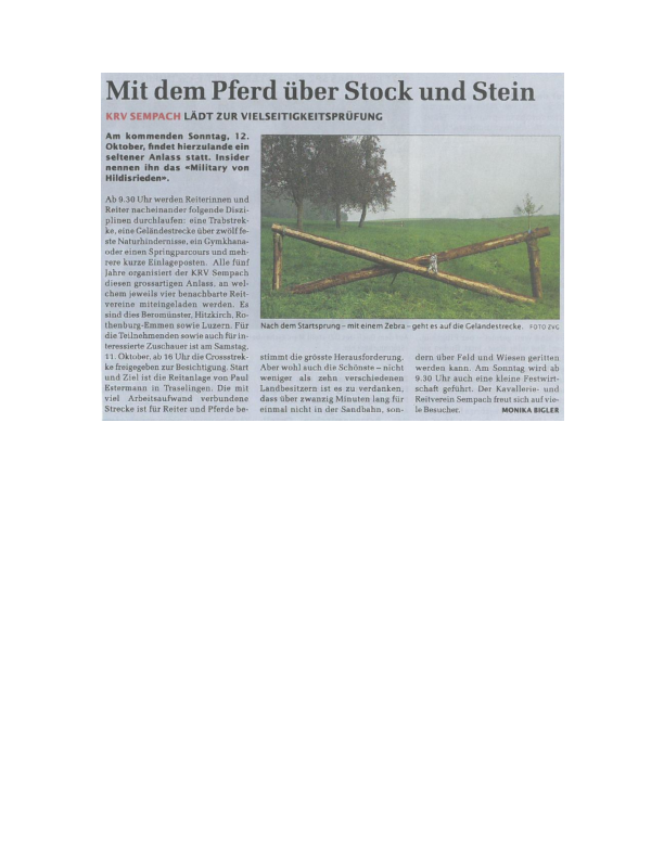 Sempacher Woche 12.10.2014