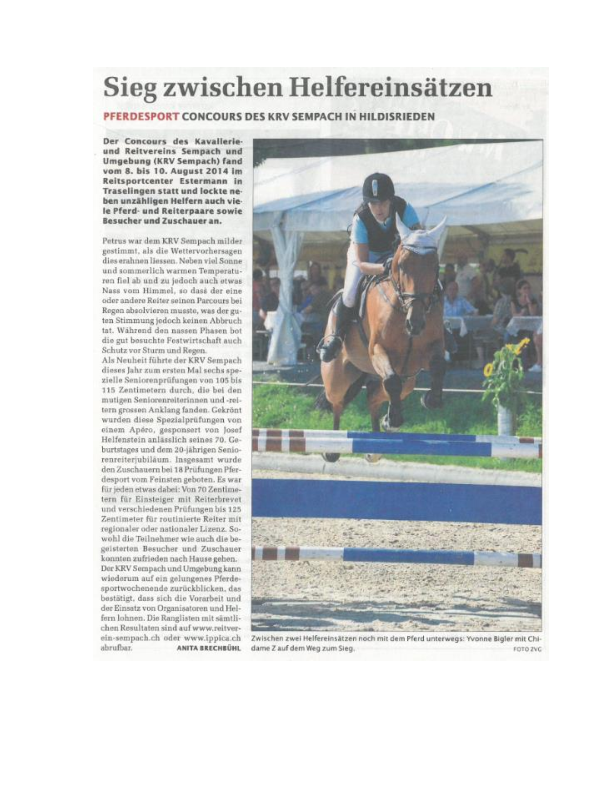 Sempacher Woche 14.08.2014