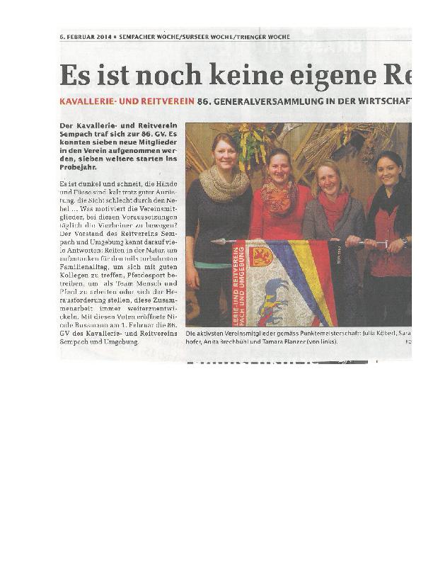 Sempacher Woche 6.02.2014